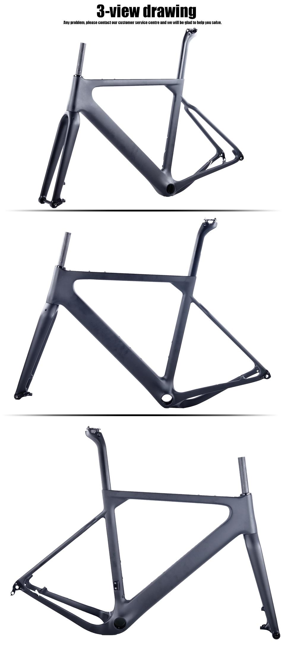 HTB1IHNwKv1TBuNjy0Fjq6yjyXXai - 2018 New Cyclocross Frame Aero Road or Gravel Bike Frame S/M/L size Disc Bike Carbon frameset QR or thru axle