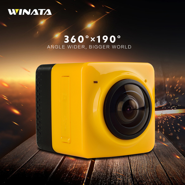 New Arrival 360 720P Action Camera H.264 360 Degrees Panorama Wifi Underwater Camera 360x190 Large Panoramic Lens Sport Cameras