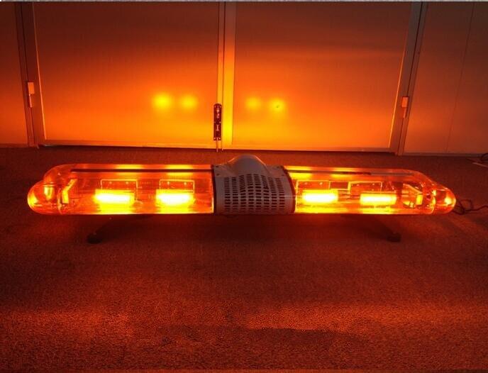 SK 12V -24V 48'' COB Emergency Recovery LightBar Wrecker Flashing LightBar Beacon Strobe Light Bar Amber