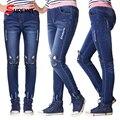 Polainas de las muchachas de Moda Gato de la Historieta Niñas Niños Jeans Pantalones Niños Otoño Niños Pantalones Lápiz Pantalones Pantalon Fillette 2507 W