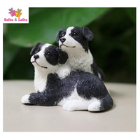 CUTE baby Border Collie dogs artificial figure,car styling room decoration,Christmas gift toy doggy, puppy pet cake decorations