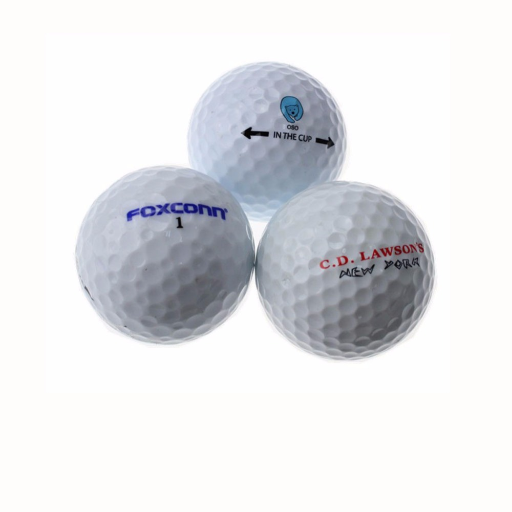 OEM Custom Logo Two Layer Tournament Golf Ball Two Piece Golf Match Ball Size 42.67 Mm