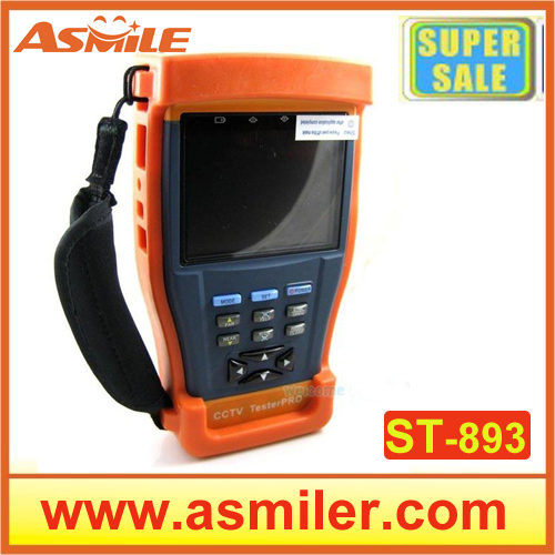 High Performance St-893 Camera Tester 3.5 inch TFT-LCD Monitor CCTV Tester Video/ PTZ UTP RS485 Audio 12V Output