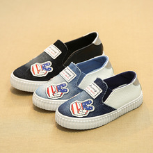 2018 New model trend cool jean child first walkers stable slip on ladies boys footwear canvas cute child toddlers sneakers