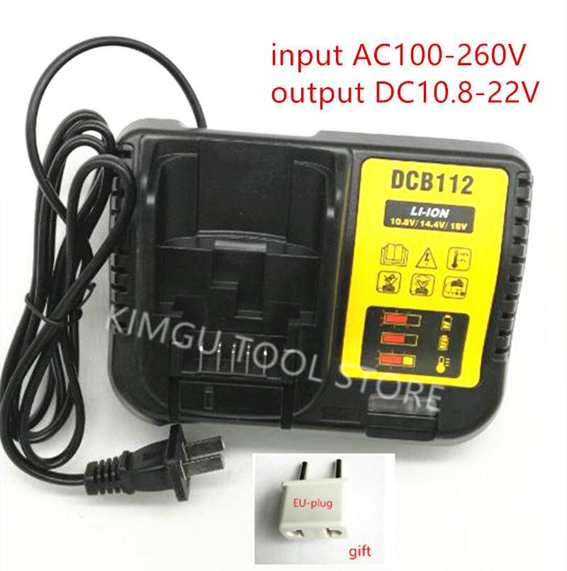 AC100-240V Charger DCB112 Replace for Dewalt 10.8V 12V 14.4V 20V DCD778 DCD777 DCD771 DCD716 DCD710 DCD813 DCF815 DCF813 Charger dc 20v motor and switch replace for dewalt dcd777 dcd778