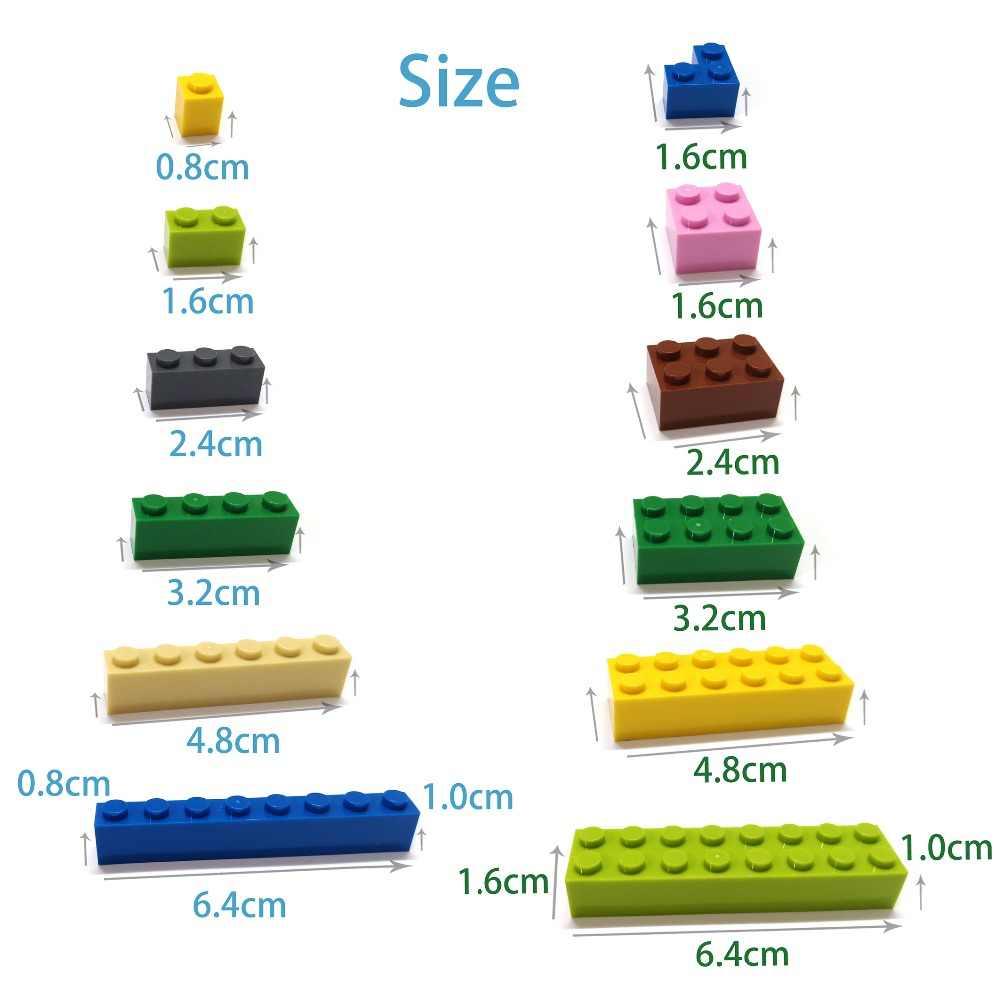 60 stücke DIY Bausteine Dicken Zahlen Bricks 1 + 2 Punkte Pädagogisches Kreative Größe Kompatibel Mit lego Kunststoff Spielzeug für Kinder