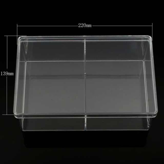 2 Cells Jewelry Beads Container Desktop Clear Plastic Storage Box Organizer  Case Holder Cabinets Display Jewelry