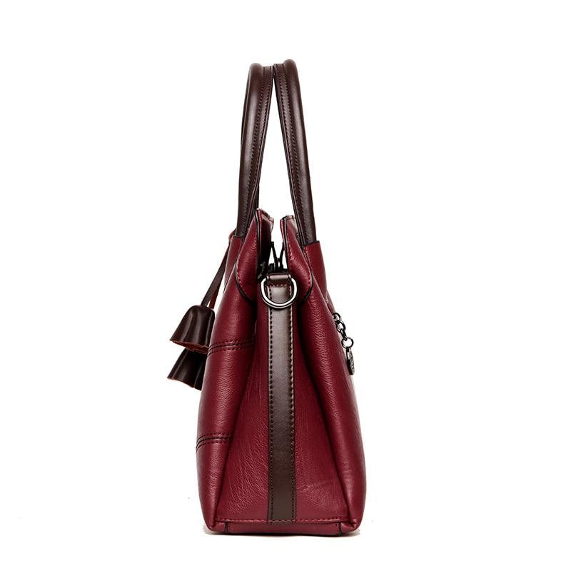 cb1a0823d59f KMFFLY Brand Women Bags Genuine Leather Bags 2018 fashion Women Handbags  High Quality Sheepskin Shoulder Bags Ladies ...