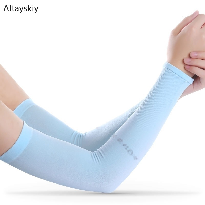 Arm Warmers Women Breathable Solid Daily Ladies Girls Elegant 2020 Chic Elasticity Womens Sleeve Simple All-match Trendy Leisure