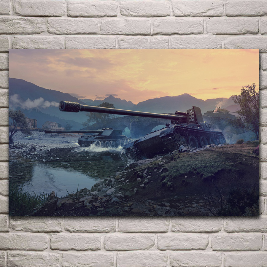 grille 15 tank destroyer world of tanks game fan art Living room decoration home wall art decor wood frame fabric posters KC526 image