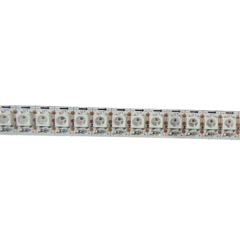 4mX programmable WS2812B digital 5050 RGB LED strip DC5v 144LEDs/m 144Pixels/m free shipping programmable led digital scrolling message name tag id badge 11 44 pixels