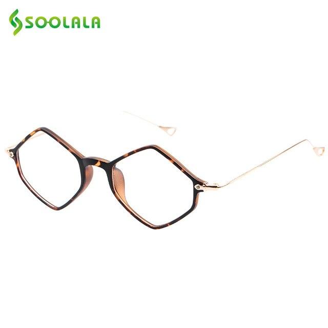 SOOLALA Hexagon Glasses Frame Light Eye Glasses Eyewear Prescription Glasses Frame Clear Lenses Frame Prescription Eyeglasses