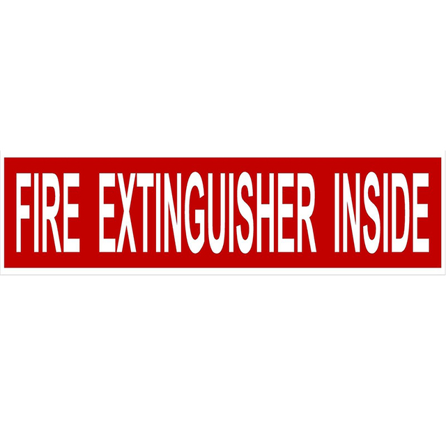 3d car stying fire extinguisher inside decal sticker semi truck red white car sticker cool graphics