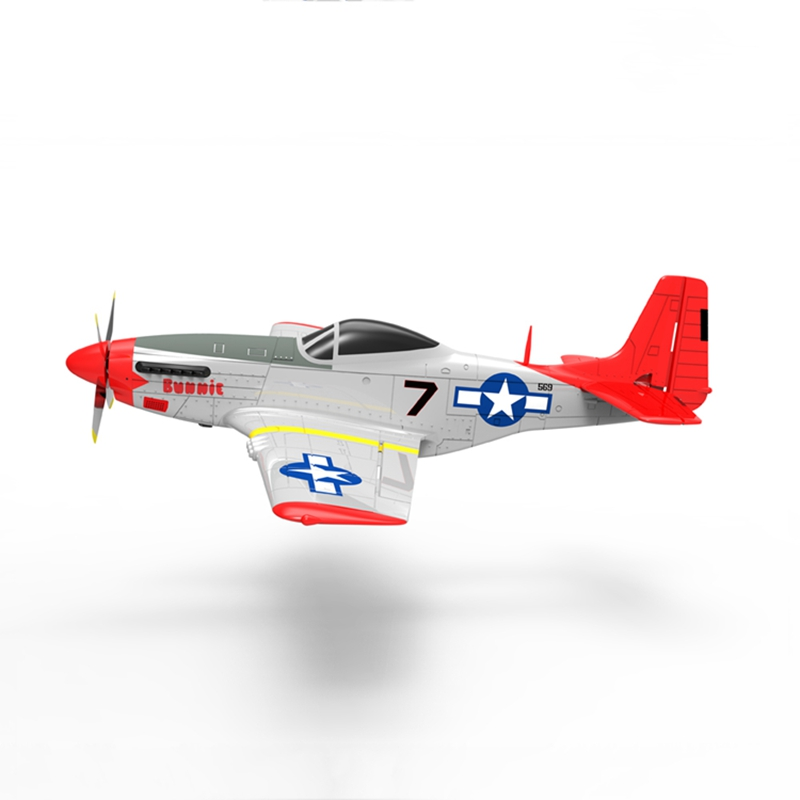 Volantex RC 768-1 Mus&tang P51D 2.4Ghz 6CH 750mm 29.5 In Red Wingspan EPO Warbird RC Airplane RTF & 7040 Propeller Kids Toys