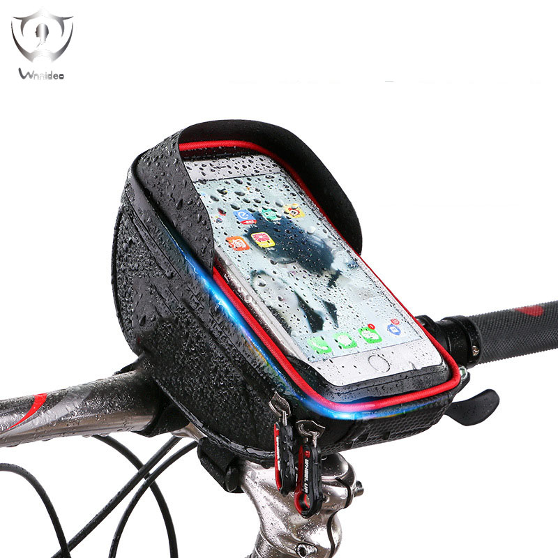 2018 Wnnideo Cycling Outdoor Bicycle Bags Portable Touch Screen Waterproof Install Handlebar Climbing Camping
