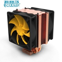 Pccooler Cpu Cooler Double Fan 9cm Quiet 2 Copper Heatpipes Cpu Cooling Radiator Fan For AMD