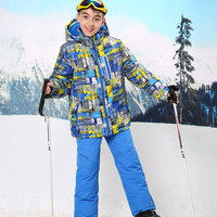2019 Russian Winter Children Sets Baby Boys Ski Suit Outdoor Windproof Waterproof Sport Suit for Boys Ski Jacket+ Pants 2pcs Set