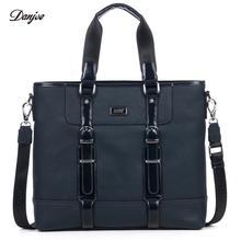 DANJUE Genuine Leather Men briefcase Handbag Business brand design 14″ laptop Bag High Quality Shoulder Bags Mens Laptop Totes
