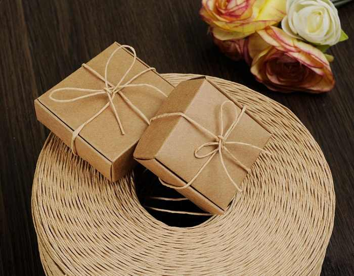Pralinenschachtel tasche schokolade papier geschenk paket für Geburtstag Hochzeit favor Decor liefert DIY handmade vintage handwerk papier Wh