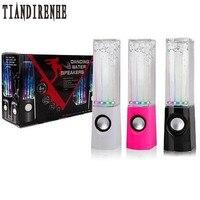 LED Light Dancing Water Speaker Active Portable Mini USB Speaker for PC Computer MP3 PSP Subwoofer Column Soundbox Audio Box
