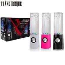 Tiandirenhe Танцы Вода Динамик Active Портативный Mini USB светодиодные Динамик для ПК MP3 PSP колонки Сабвуфер SoundBox аудио коробка
