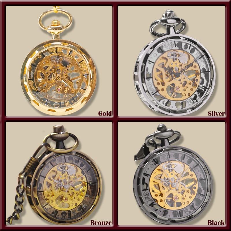online buy whole antique mens gold pocket watch from gold silver bronze black fashion men vintage hand wind pocket watch antique cool mechanical pocket watch