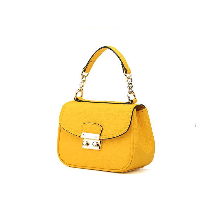 LOEIL Europe and the United States new leather women's single shoulder diagonal bag leather rhombic lock small square bag handba women s new hit color stylish leather square bag europe and american stylish cross single shoulder diagonal bag