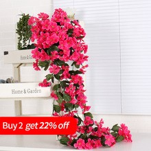 orhcid vine wisteria Violet silk flowers Artificial Wall hanging Flowers Orchid Vine Rattan Home Balcony decoration