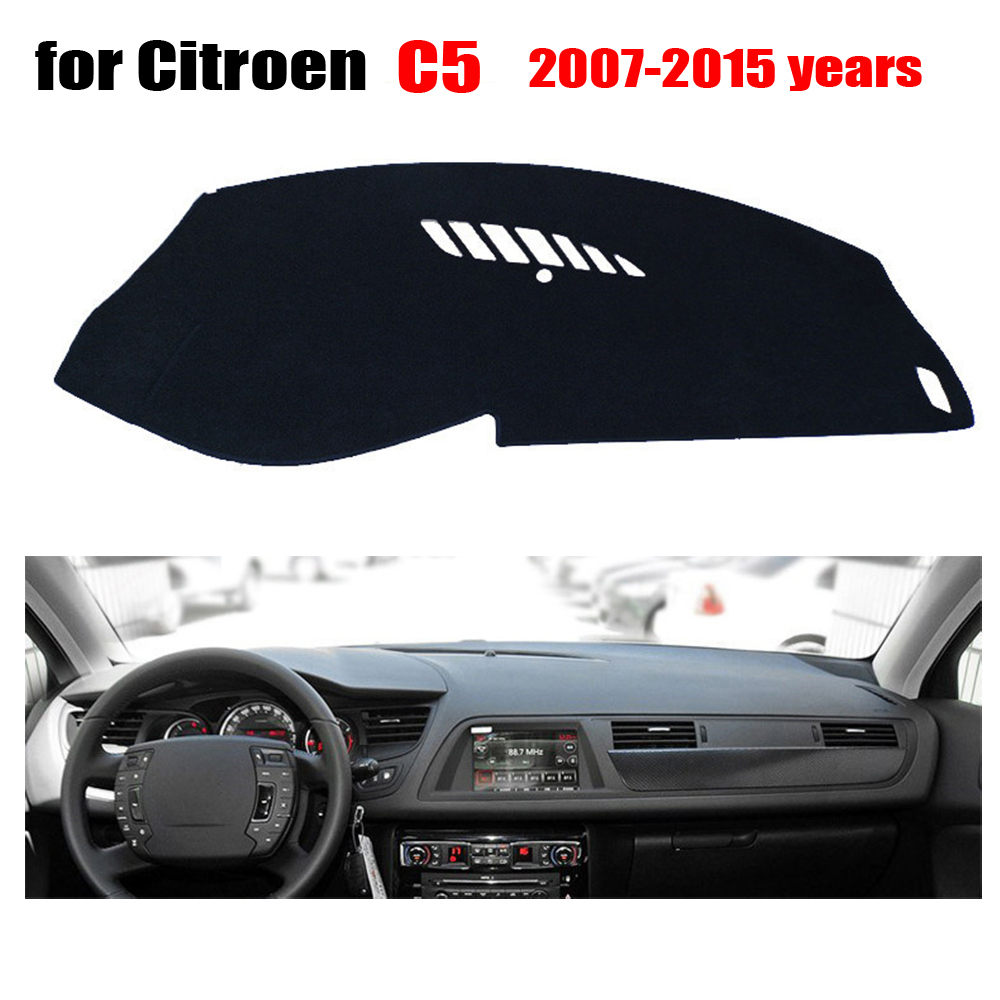 Car dashboard covers mat for Citroen C5 2007-2015 Left hand drive dashmat pad dash covers Instrument platform accessories dashmat original dashboard cover buick skyhawk