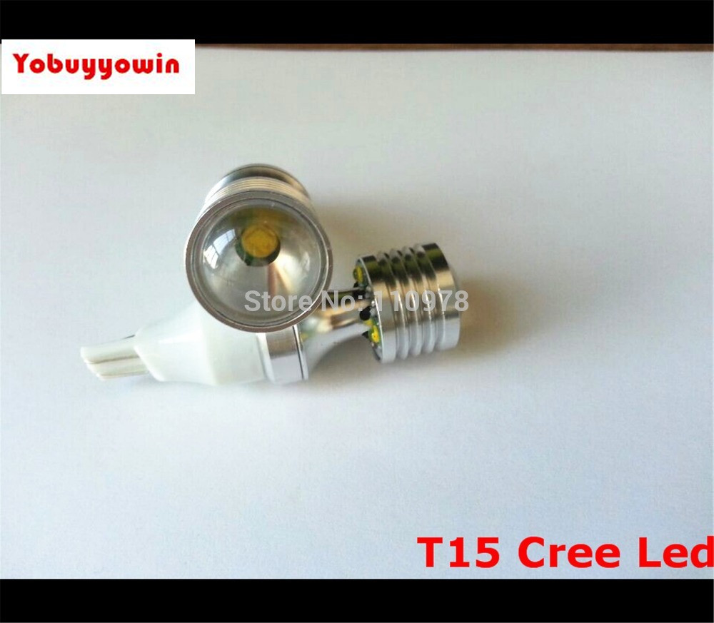 Hottest 20W Canbus High Power Xenon White CREE chip T15 W16W912 921 LED Replacement Reflector Bulbs For Car Backup Reverse Light 2 x error free super bright white led bulbs for backup reverse light 921 912 t15 w16w for peugeot 408
