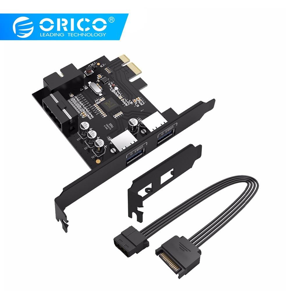 ORICO PVU3-2O2I escritorio 2 puerto con VLI chipset USB3.0 tarjeta PCI Express USB3.0 controlador de HUB vía tarjeta de adaptador con 19Pin