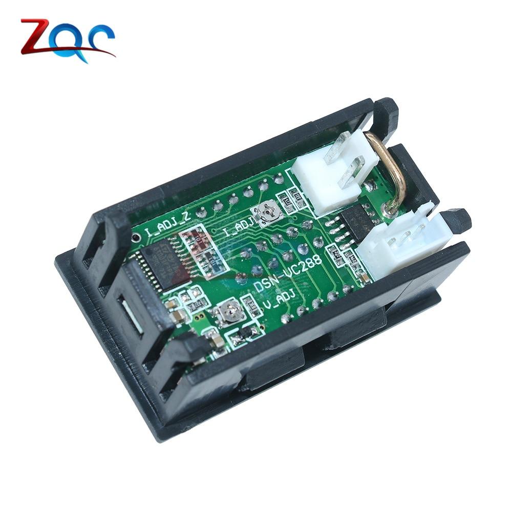 Mini Digital Voltmeter Ammeter DC 100V 10A Panel Amp Volt Voltage ...