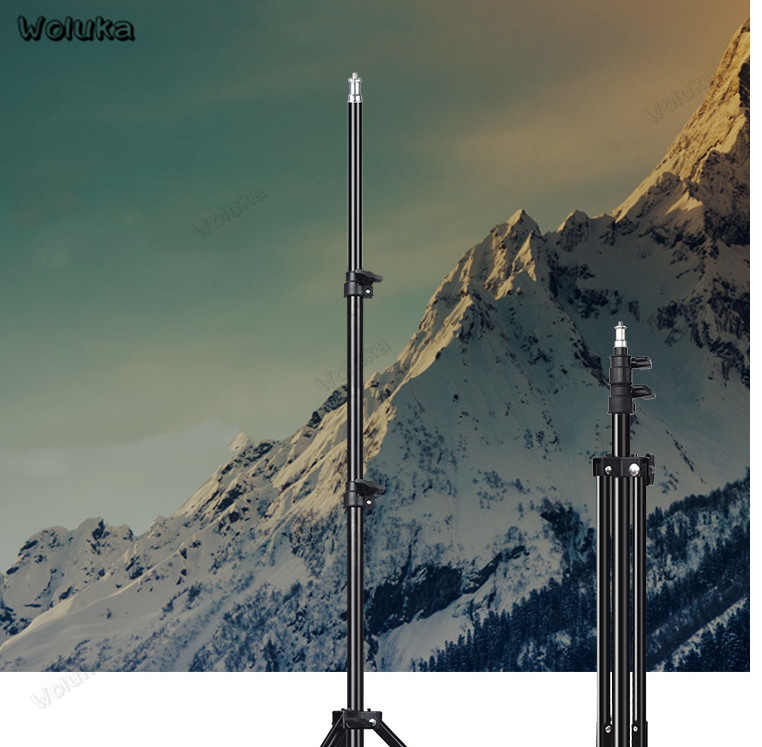 2 m studio ảnh chân đèn flash giá đỡ đứng Vòng LED ánh sáng làm đèn Gậy chụp ảnh giá đỡ đèn CD50 T15