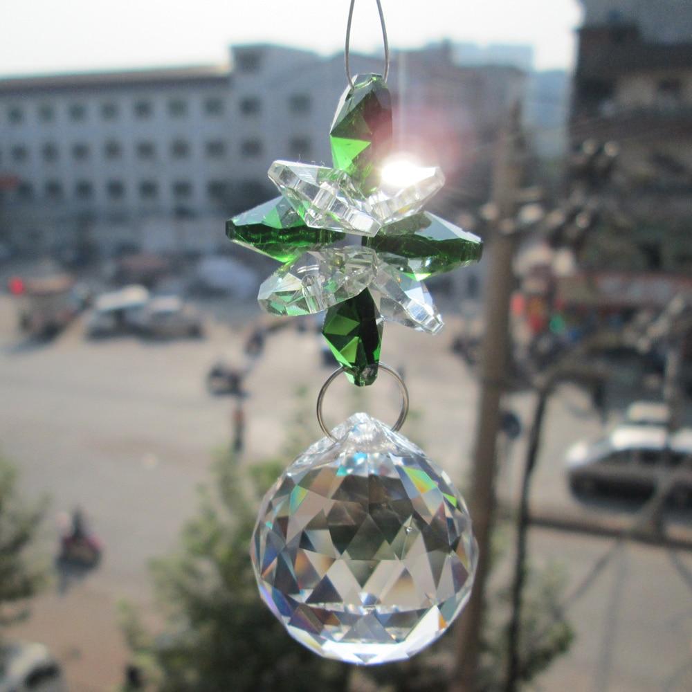 Kranz Chakra spektren 1 suncatcher 1 suncatcher glas kristall pendel lampe prismen teile feng-shui-anhänger 30mm eine m02265-1