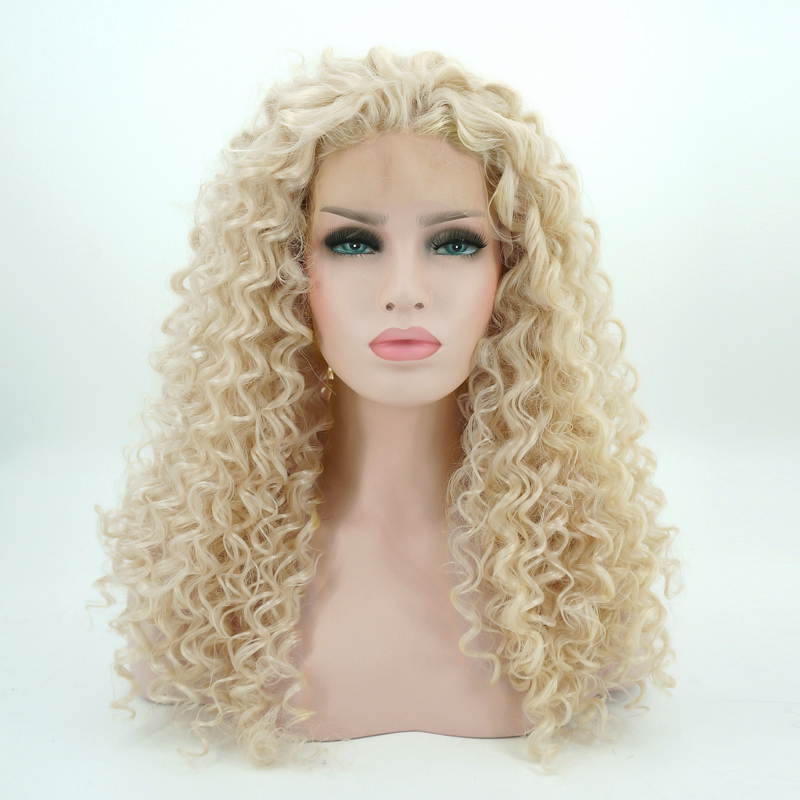 Synthetic None-lacewigs Synthetic Wigs 24 Blonde Curly Daily Hair Women Long Lace Front Synthetic Wig Heat Resistant H793119