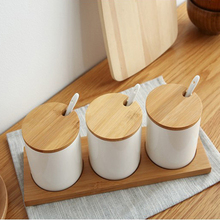Simple life Creative Ceramics kitchen food containers organizer jars for spices sugar-bowl condiment box kitchen storage bottl