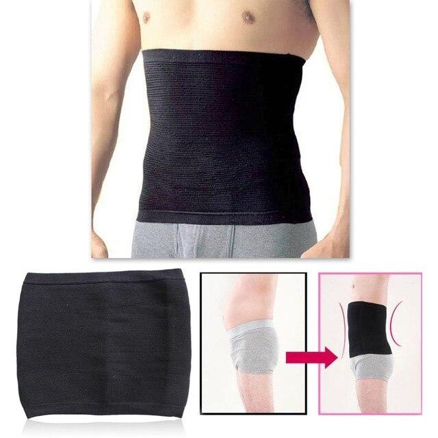 Waist Trimmer Slimming Belt for Men Male Sweat Sauna Abdominal Shapewear Waist Slimming Belt Beer Belly Body Shape 3