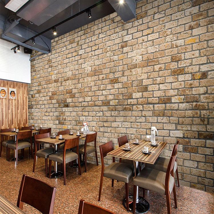 Custom 3d Mural 3D Simulation Wallpaper Cafe Restaurant Living Room Bar Tea  House Decoration Pastoral Old Brick Wallpaper Mural In Wallpapers From Home  ...