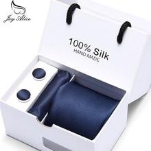 Cufflinks Tie and Handkerchief Set with Gift Box 2019 Luxury Black Paisley Men Tie Set Necktie Wedding Dress Gravata Tie for Men marvis black box gift set