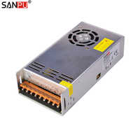 Double Ac Dc Transformer 250W Led Driver Dc Led Switching Power Supply 24V 10A IP 63