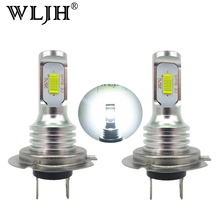 WLJH 2x Canbus Error Free Led H7 Fog Light Bulb Auto Car Motor Truck Driving Daytime Running Light H7 LED Bulbs 12V 24V for Cars