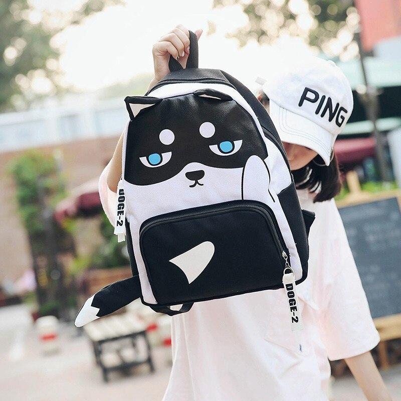 Free Shipping Husky Backpack High Quality Unisex Children Mochilas School Bag Bolsas Boy Girls Canvas Zip Creeper Backpacks
