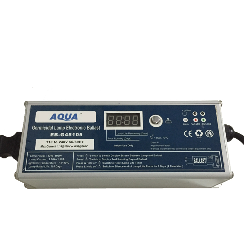 water filter UV disinfection lamp ballast 35W-105W