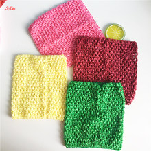 "1pcs 6""/9"" Elastic Crochet Chest Wrap Girl Fabric Knit Headbands Tutu Tube Tops DIY Children Skirt Dress Accessories Gift 8Z(China)"