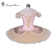 Adult Pink peach professional ballet Tutu for performance classical ballet tutu women pancake tutuBT9034