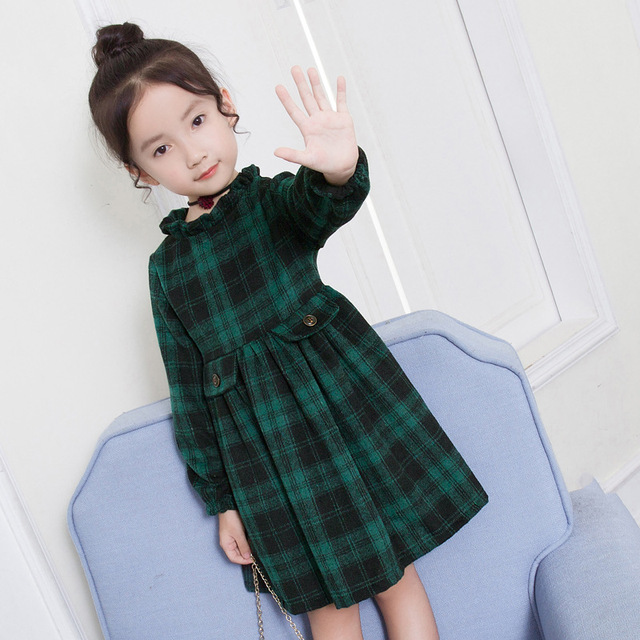toddler plaid christmas baby girl wedding dress kids for girls winter princess party evening dresses childrens