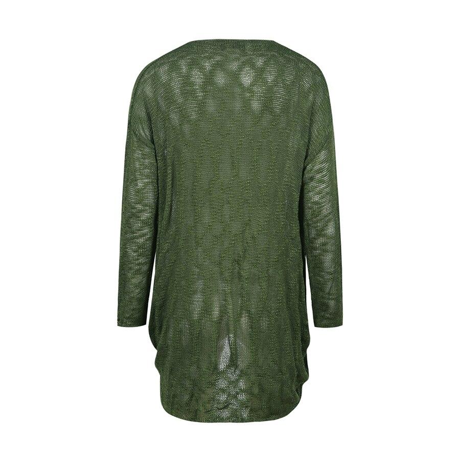 Green Long Sweater Women Summer Dress Damen Woman Pullover Plus ...