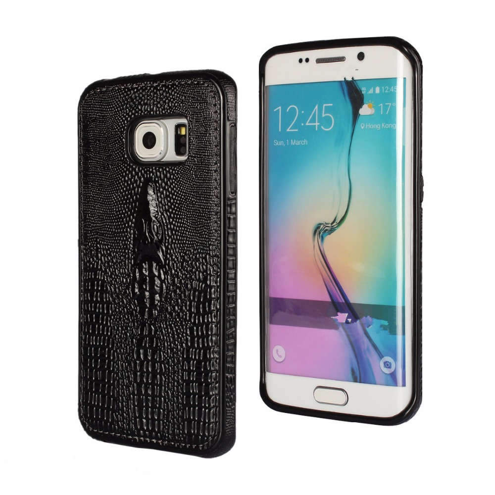 szHAIyu G925 Cover - 2017 New 3D Crocodile Head Pattern PU Leather Mobile Phone Case For Samsung Galaxy S6 Edge Back Cover Shell