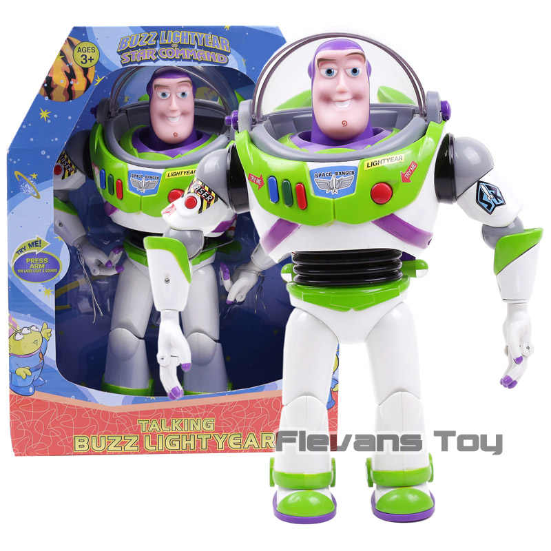 Toy Story 3 Talking Buzz Lightyear Toys Lights Voices Speak English Joint  Movable Action Figures Children a3331260ddf