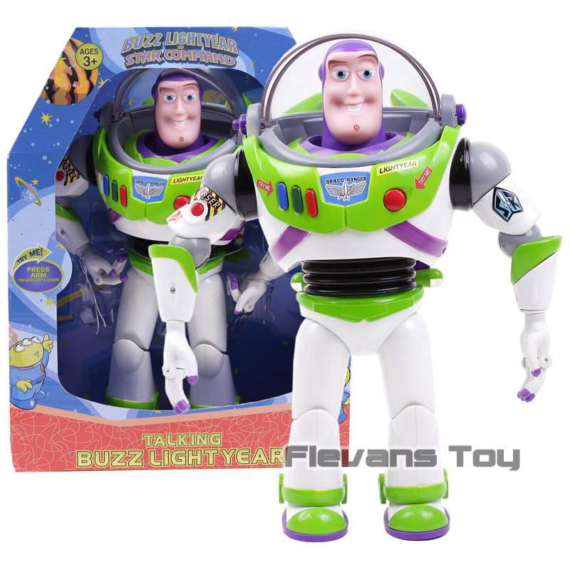 Toy Story 3 Talking Buzz Lightyear Toys Lights Voices Speak English Joint Movable Action Figures Children Gift toy story bunny toys